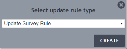 Select Update Rule dialog